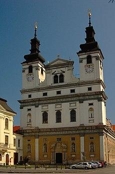 6c37e7c71 Trnava john the baptist 02.jpg. Cathedral of St John the Baptist is located  in Slovakia