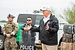 President Trump visits the border in McAllen, Texas; Jan 10, 2019.