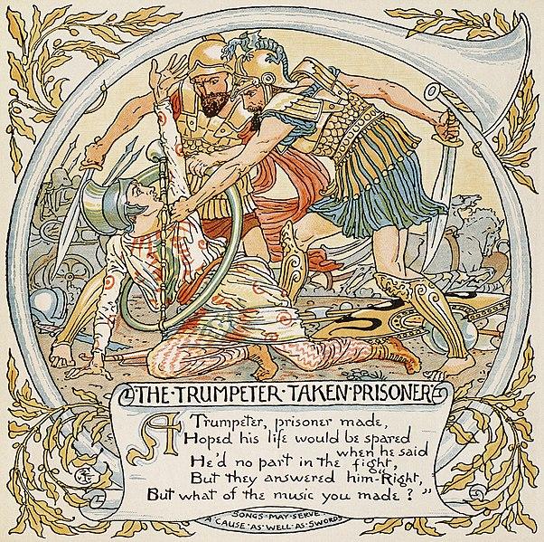 http://upload.wikimedia.org/wikipedia/commons/thumb/7/72/Trumpeter_Taken_Prisoner2.jpg/602px-Trumpeter_Taken_Prisoner2.jpg