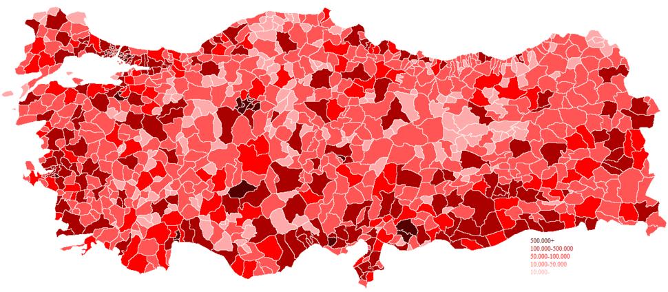 Turkey districts