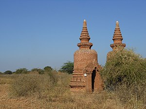 The Burmese Harp (1956 film) - Stupas in Myanmar (Burma).