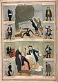 Two British political satirical scenes surrounded by eight f Wellcome V0011357.jpg