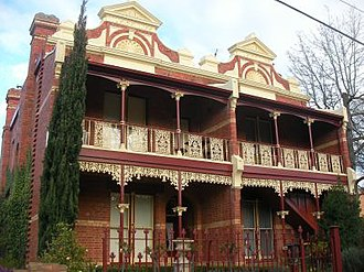 Ballarat Central - Many semi-detached and double storey houses in Ballarat Central such as these have been converted into offices or medical suites