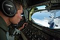 U.S. Air Force Tech Sgt Joe Parker, a boom operator, refuels an F-35A Lightning II aircraft assigned to the 58th Fighter Squadron, 33rd Fighter Wing over the northwest coast of Florida May 16, 2013 130516-F-XL333-385.jpg