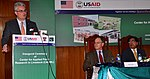 U.S. Consul General Lahore Zachary Harkenrider delivering remarks (22301176640).jpg