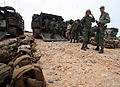 U.S. Marines and Sailors with Alpha Company, Battalion Landing Team 1st Battalion, 2nd Marine Regiment, 24th Marine Expeditionary Unit show their amphibious assault vehicles to members of the Royal Moroccan 120410-M-HF911-085.jpg