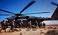 U.S. Marines with 81 mm Mortar Platoon, Weapons Company, 1st Battalion, 2nd Marine Regiment, Battalion Landing Team, 24th Marine Expeditionary Unit board a helicopter after executing a quick strike, indirect 120409-M-IX060-011.jpg