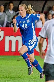 Harpa Þorsteinsdóttir Icelandic soccer player