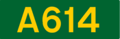 A614 road shield