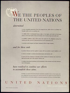 Preamble - Image: UNITED NATIONS PREAMBLE TO THE CHARTER OF THE UNITED NATIONS NARA 515901