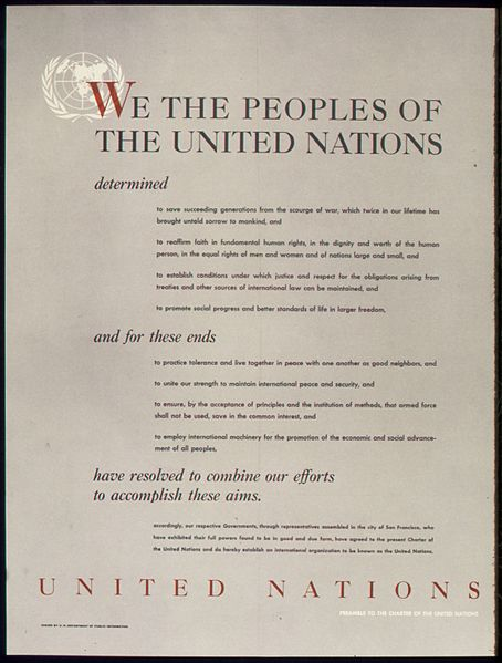 File:UNITED NATIONS - PREAMBLE TO THE CHARTER OF THE UNITED NATIONS - NARA - 515901.jpg