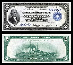 Federal Reserve Bank Note - Image: US $2 FRBN 1918 Fr.749