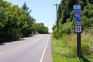 U.S. Route 11 in Tennessee - US 11 along Lee Highway, south of Lenoir City