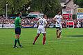 USO - RCT - 28-09-2013 - Stade Mathon - Romain Poite et Jonathan Wilkinson 2.jpg