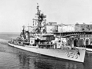 USS Charles H. Roan - Charles H. Roan at Taranto in 1964.