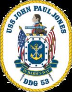USS John Paul Jones DDG-53 Crest