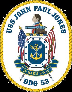 USS John Paul Jones (DDG-53) - Image: USS John Paul Jones DDG 53 Crest