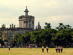 University of Santo Tomas Main Building - UST Main Building as viewed from the field