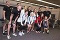USWNT players pose at Pearl Harbor-Hickham 151203-N-TE668-077.JPG