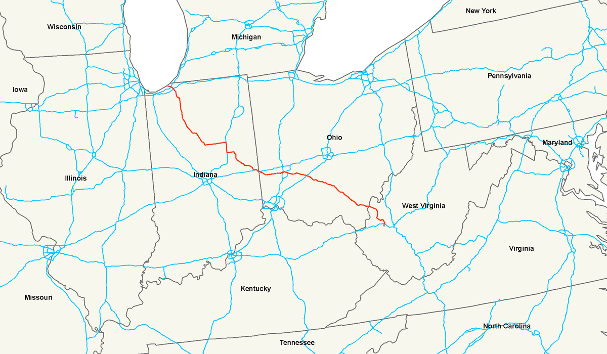 US Route Wikipedia - Us 35 map