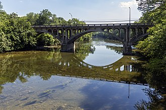 Conococheague Creek - U.S. 40 bridge over Conococheague Creek from Wilson's Bridge