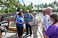 US Assistant Secretary of State for East Asia and Pacific, Daniel Russel congratulating Feolani Bruun for making history as Samoa's first Yacht-master Captain.jpg
