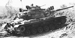 US Marine Corps M60 tank in Beirut 1983.jpg