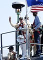 US Navy 050812-N-1550W-012 Former President Jimmy Carter waves from the Sea Wolf-class attack submarine USS Jimmy Carter (SSN 23) as he gets underway for a one-night embark from Naval Submarine Base Kings Bay.jpg