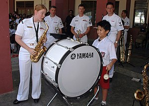 Yamaha Drums - Bass drum in the US Navy marching band.