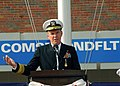 US Navy 061128-N-1713L-044 Commander, U.S. Navy 2nd Fleet Vice Adm. Mark P. Fitzgerald addresses the audience during a change of command ceremony held on board Naval Station Norfolk.jpg