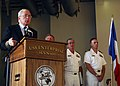 US Navy 070726-N-8132M-074 U.S. Ambassador to France, Craig Stapleton speaks to distinguished visitors, guests and crew members of the nuclear-powered aircraft carrier USS Enterprise (CVN 65).jpg
