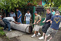 US Navy 070813-N-7029R-008 U.S. Sailors and Marines of USS Pearl Harbor (LSD 52) remove a tree trunk from the grounds of Hogar Santa Eduvigis during a community relations project in support of Partnership of the Americas (POA).jpg