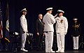 US Navy 110923-N-FC670-024 Master Chief Petty Officer of the Navy (MCPON) Rick West presents Adm. Gary Roughead with his flag.jpg