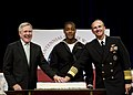 US Navy 111013-N-AC887-001 Secretary of the Navy the Honorable Ray Mabus, left, Chief of Naval Operations (CNO) Adm. Jonathan Greenert, and Seaman.jpg