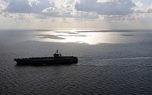 US Navy 120120-N-GZ832-121 The Nimitz-class aircraft carrier USS Carl Vinson (CVN 70) is underway in the Arabian Sea.jpg