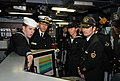 US Navy 120215-N-MU720-130 Mineman Seaman Bryan Surber, assigned to the mine countermeasures ship USS Patriot (MCM 7), gives a tour of the ship's c.jpg