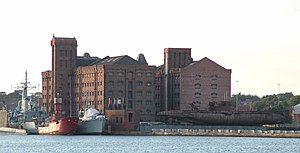 Warship Preservation Trust - Ships of the trust at Birkenhead Docks.