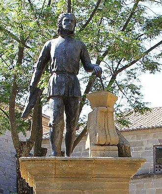 Jaén Cathedral - A statue of Andrés de Vandelvira