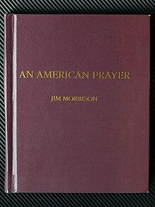 Umschlag Gedichtband An American Prayer von Jim Morrison (1970) Privatdruck Western Lithographers.JPG