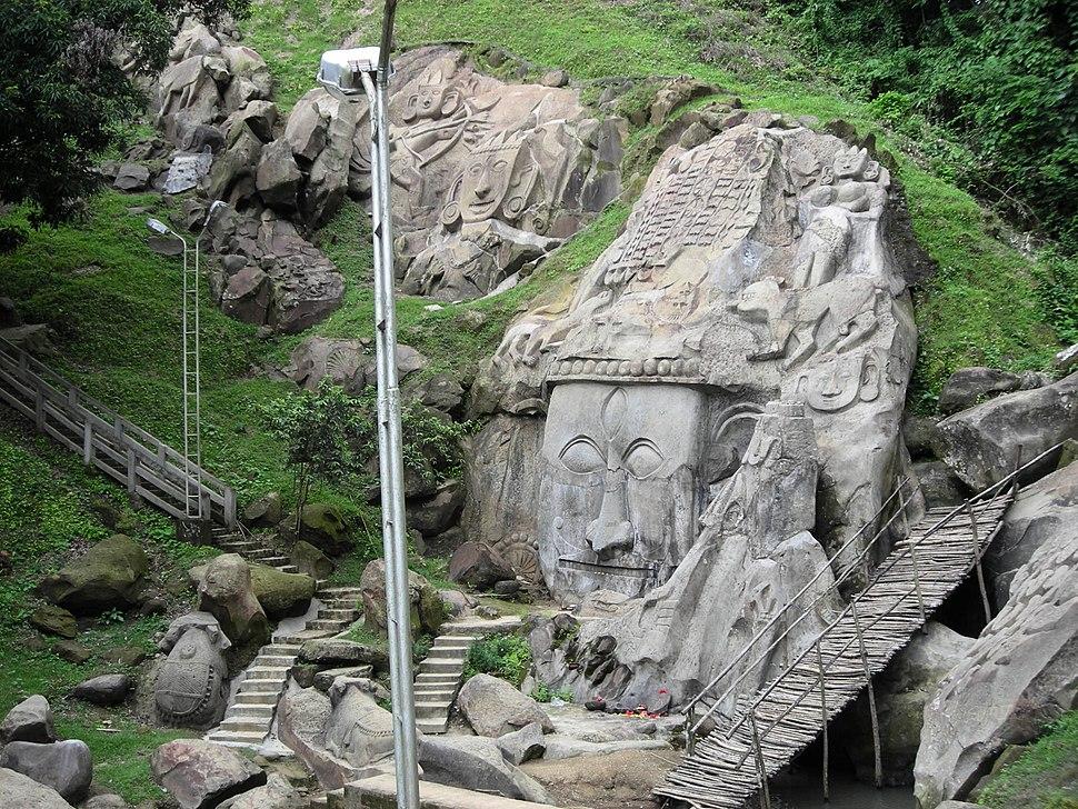 Unakoti group of bas-relief sculptures, Tripura, India