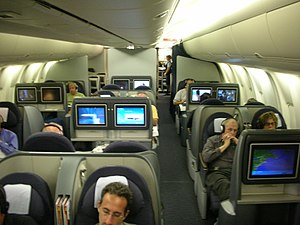 Business Class, United Airlines