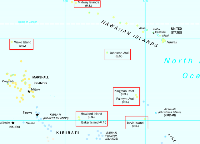 Minor Outlying Islands Map