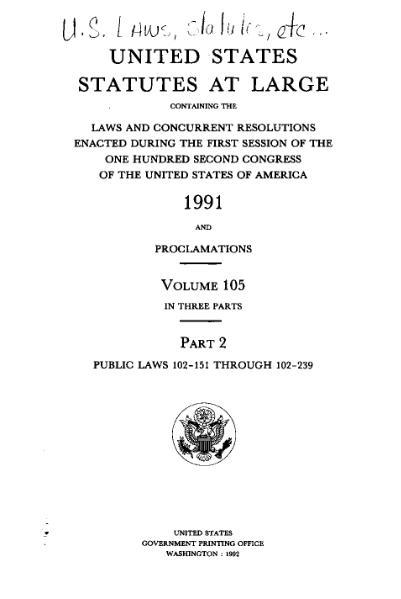 File:United States Statutes at Large Volume 105 Part 2.djvu