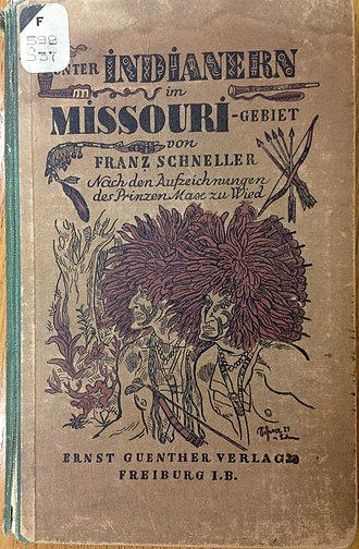 Prince Maximilian of Wied-Neuwied - Image: Unter Indianern im Missouri Gebiet cover with two Native Americans