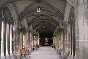 A corridor of the Knox College cloisters