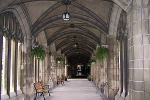 Knox College, Toronto - A corridor that forms a section of the college cloisters