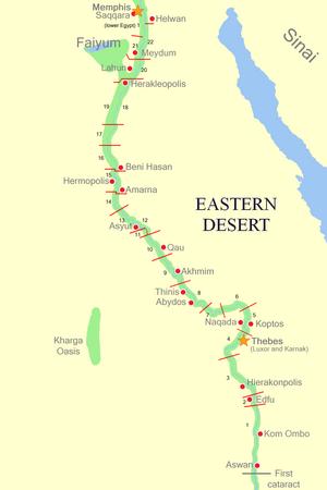 Nome (Egypt) - Upper Egypt nomes