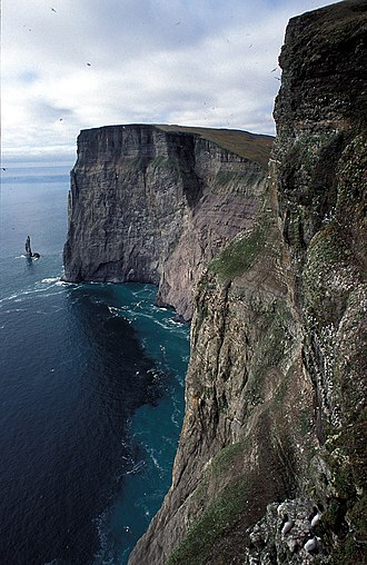 Geography of Svalbard - Stappen bird cliff at Bear Island.
