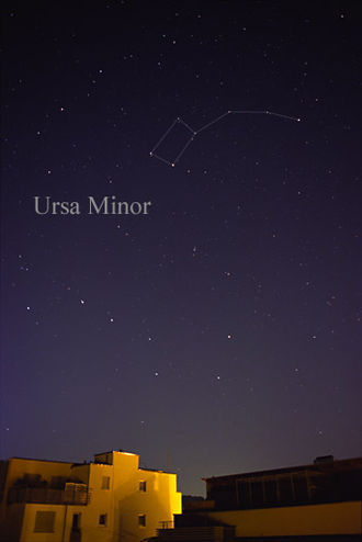 Ursa Minor - The constellation Ursa Minor as it can be seen by the naked eye (with connections and label added).