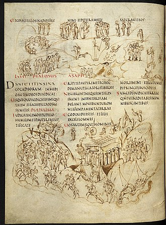 Utrecht Psalter - Start of Psalm 81